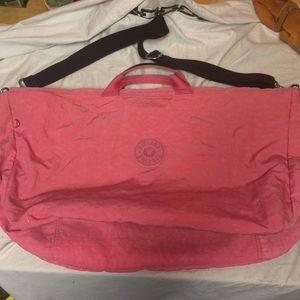 "Kipling duffel bag large pink 23 x 14 x 8"""